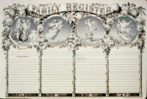 Генеалогическое семейное дерево, регистрация брака - Винтаж (59 фото)