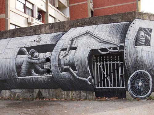 Британский уличный художник Phlegm (88 работ)