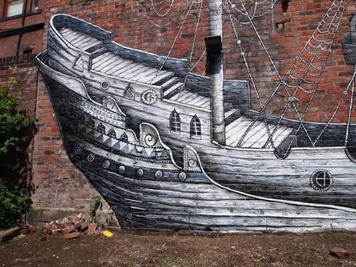 Британский уличный художник Phlegm (88 фото)
