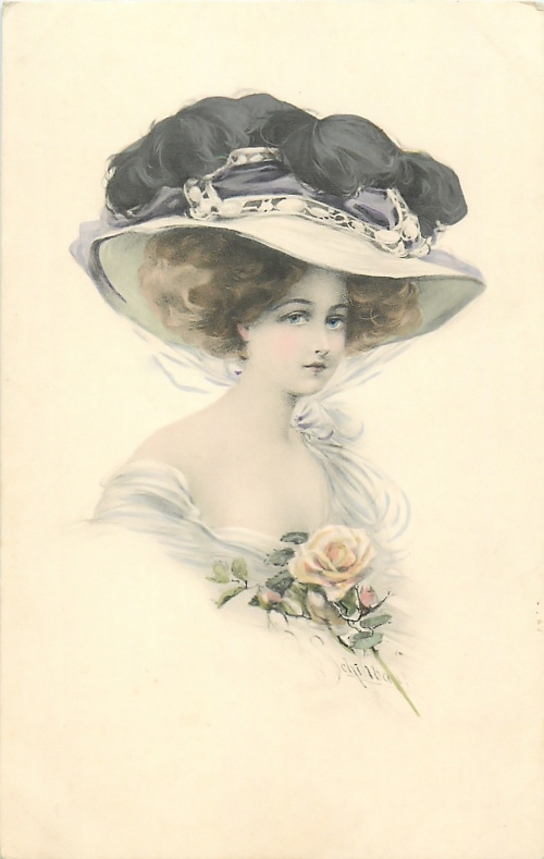 Старинные открытки – Милые барышни (73 открыток)