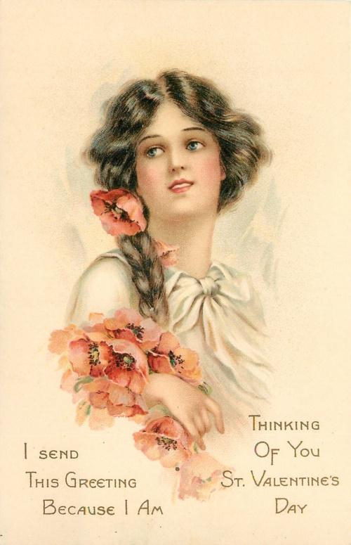 Старинные открытки – Милые барышни (73 фото)