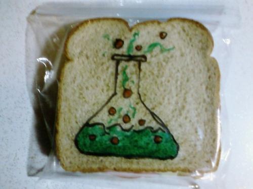 Рисунки на бутербродах - Дэвид Лаферрьер (26 работ)