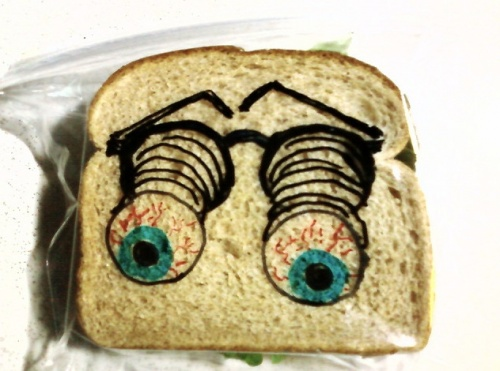 Рисунки на бутербродах - Дэвид Лаферрьер (26 фото)