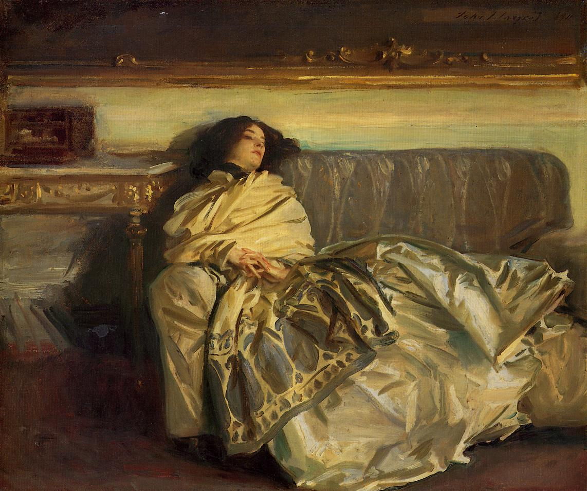 a description and comparative analysis of the paintings madame x by john singer sargent and uncle do