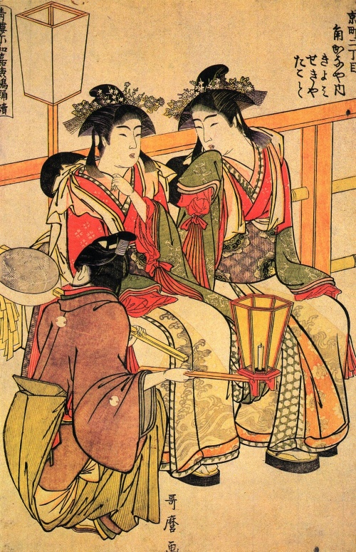 Китагава Утамаро (Kitagawa Utamaro) - японский художник (57 работ)