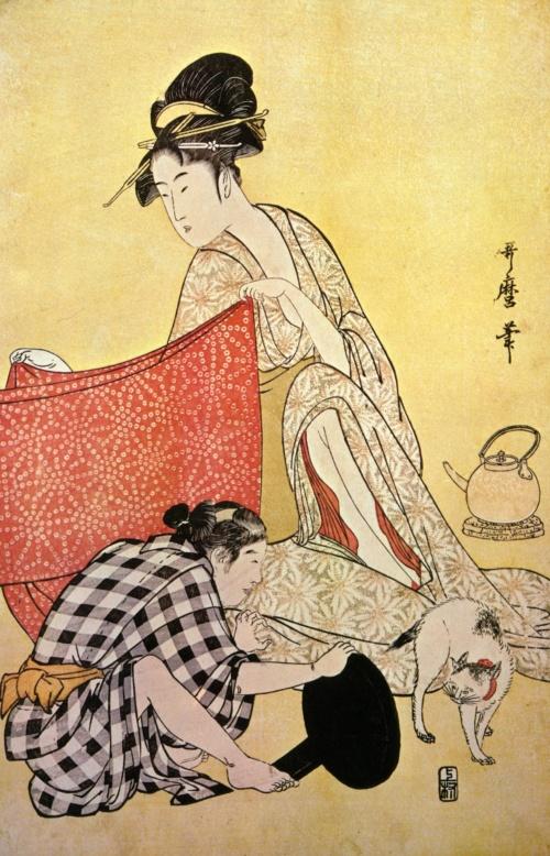 Китагава Утамаро (Kitagawa Utamaro) - японский художник (57 фото)