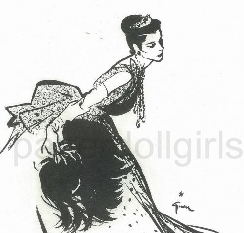 Женский образ на старой открытке 13 (225 работ)
