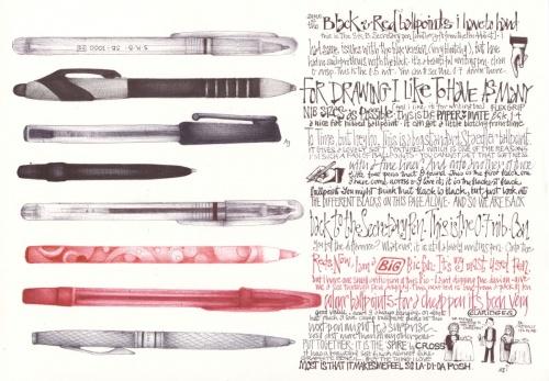 Рисунки ручкой (25 работ)