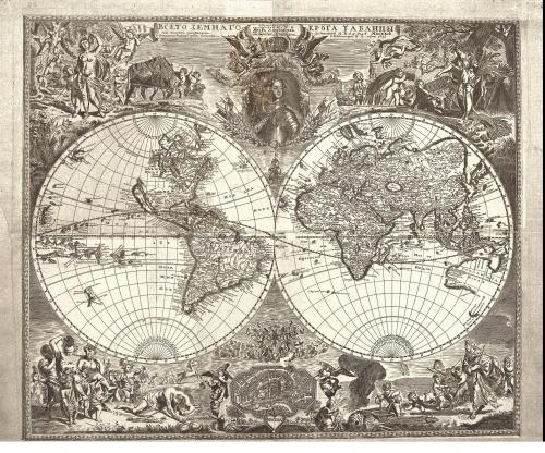 Старинные географические карты (38 фото)