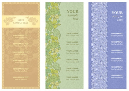 Vintage flower templates (13 фото)