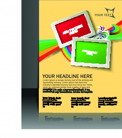 Creative booklet and poster vector 2 (11 фото)