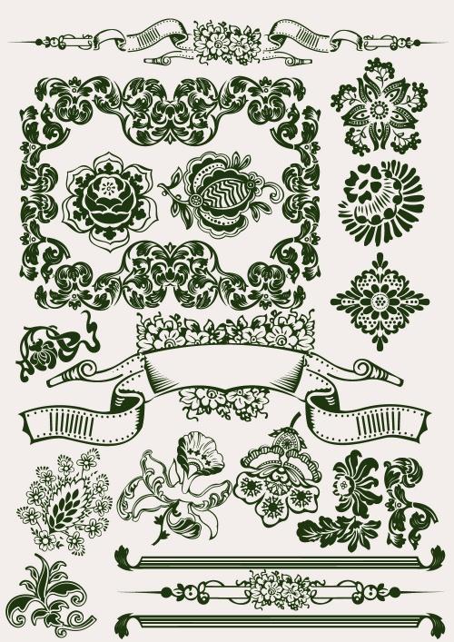 Сalligraphic design elements (7 фото)