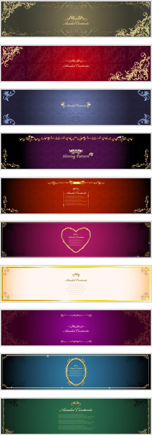 Luxury backgrounds banners (5 фото)