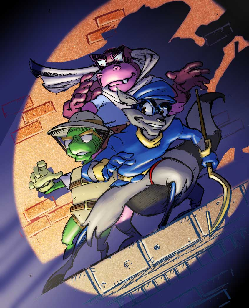sly cooper white background