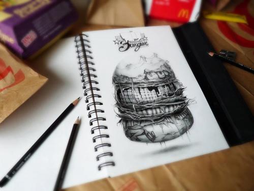 Рисунки в блокноте (19 работ)