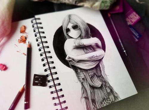 Рисунки в блокноте (19 фото)