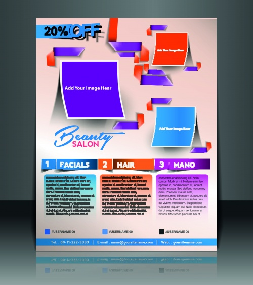 Creative booklet and poste vector 3 (7 фото)