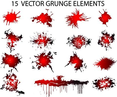 Grunge splashes (7 фото)