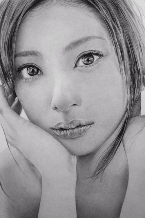 Восточная красота. Рисунк карандашом. Кен Ли (41 обоев)