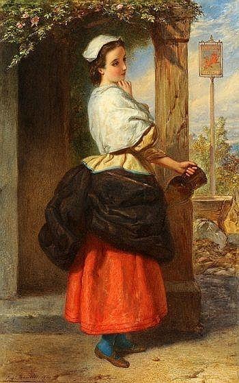Английский художник Augustus Jules Bouvier (1827–1881) (54 работ)