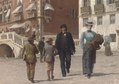Итальянский художник Antonio Ermolao Paoletti (1834 – 1912) (58 работ)