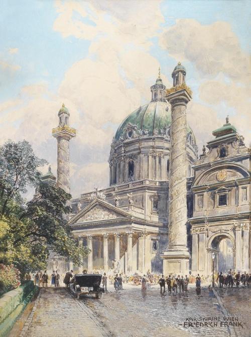 Австрийский художник Friedrich Frank (1871-1945) (19 фото)