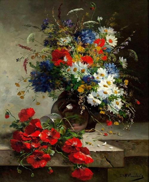 Натюрморты Eugene Henri Cauchois (1850-1911) (112 работ)