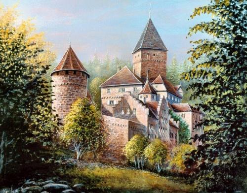 Karl Illini (2) | Средневековые замки и ретро атомобили... (23 обоев)