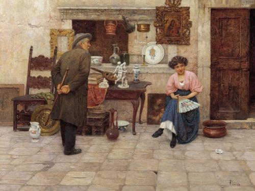 Итальянский художник Luigi Pastega (Venice, 1858-1927) (25 работ)