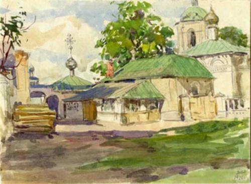 Акварели Архангельского Дмитрия Ивановича (1885-1979) (13 обоев)