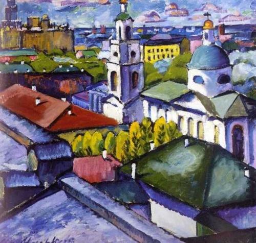 Работы художника Ильи Машкова (26 обоев)
