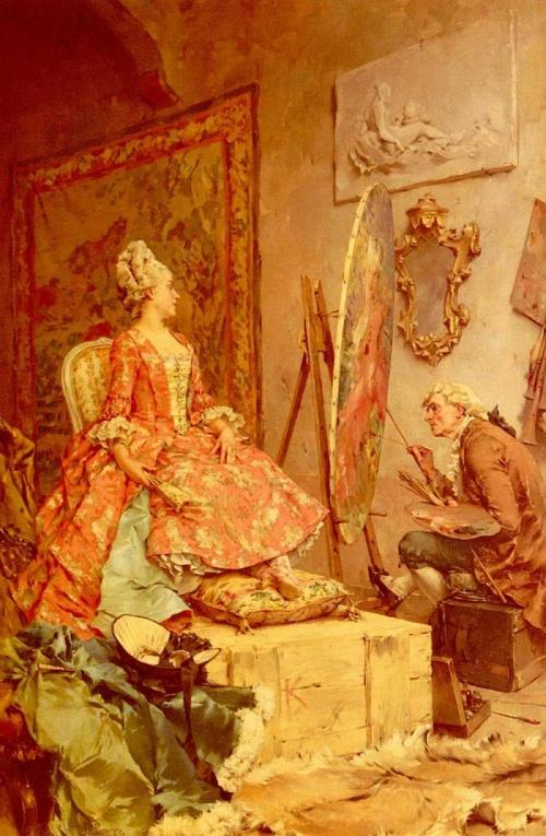 Голландский живописец Frederik Hendrik Kaemmerer. Жанровые сценки (26 фото)