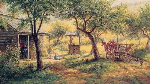 Edward Lamson Henry: другие времена, другие нравы... (52 работ)