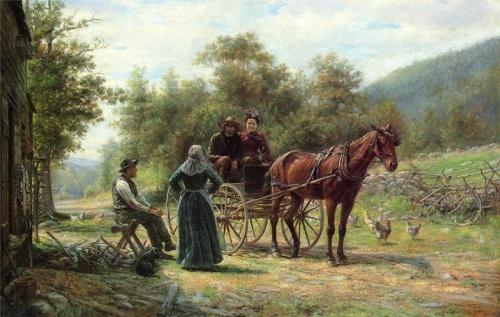 Edward Lamson Henry: другие времена, другие нравы... (52 фото)