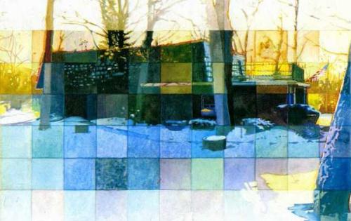 Художник Кристофер Леджер. Урбанистические акварели (46 фото)
