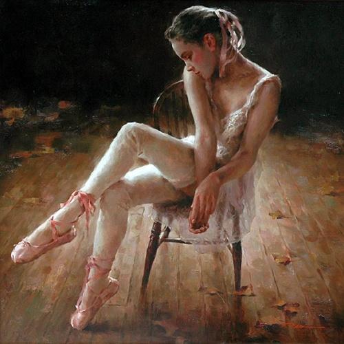 Китайский живописец Stephen Pan. Закулисная жизнь балерин (26 работ)