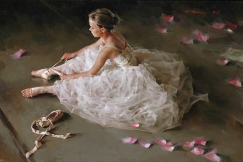 Китайский живописец Stephen Pan. Закулисная жизнь балерин (26 фото)