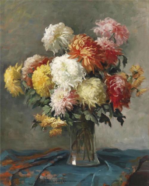 Натюрморты венгерского художника Adrienne Henczne Deak (1890-1956) (29 фото)