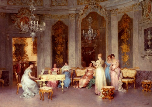 Итальянский художник Francesco Beda (1840-1900) (16 фото)