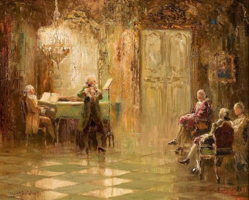 Ludwig Gschossmann (1894-1988). Нескучные вечера (15 фото)