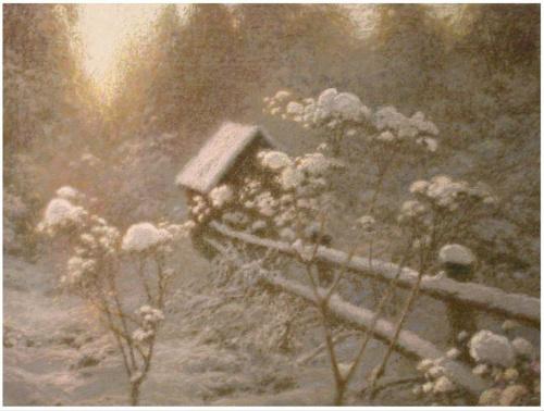 Художник Евгений Дубицкий. Зимняя сказка (14 фото)