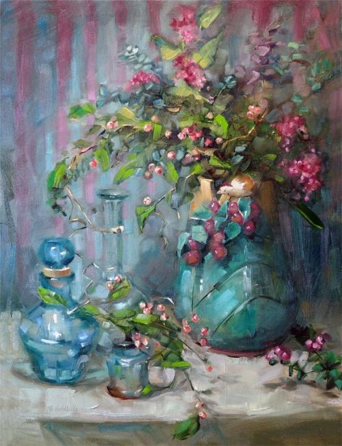 Barbara Schilling. Цветочные натюрморты (27 работ)