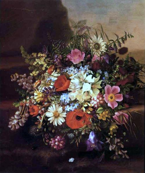 Maria Adelheid Dietrich (1827-1891). Цветочные натюрморты (27 работ)