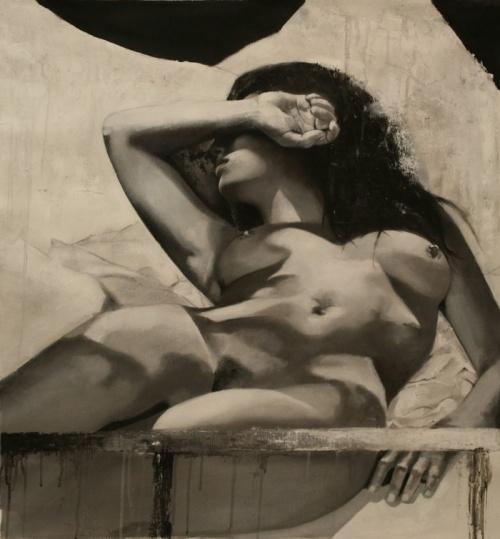 Черно-белые картины. Художница Nicole Roumelioti (21 фото)