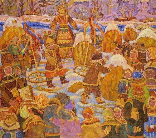 Работы художника Дмитрия Холина. Масленица. (15 фото)