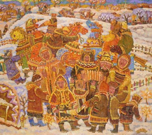 Работы художника Дмитрия Холина. Масленица. (15 работ)