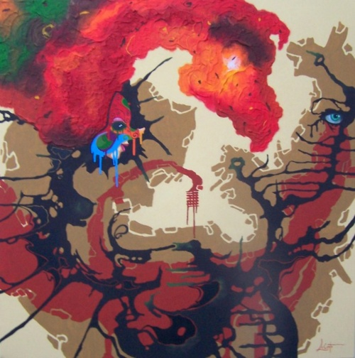 Абстрактные картины. Художник Dominique Lecomte (21 фото)