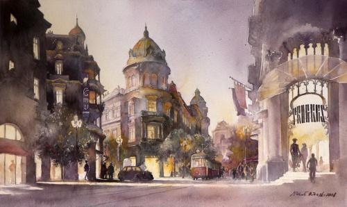 Акварельные путешествия художника Michal Orlowski (26 фото)