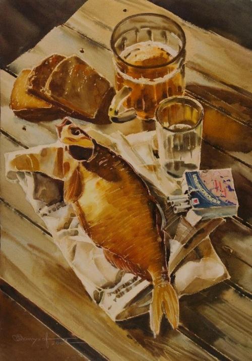Акварельные натюрморты Игоря Манухова (26 работ)