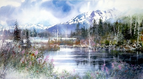 Удивительные акварельные пейзажи Nita Engle (30 фото)